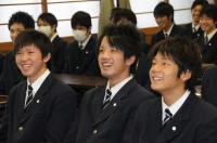 長野選手巨人軍入団報告のため来校【14】