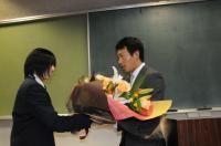 長野選手巨人軍入団報告のため来校【15】
