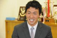 長野選手巨人軍入団報告のため来校【21】