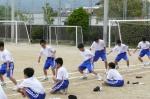 初めてスポーツテストに参加する1年生