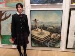 D2-1 上野 真希さんの油彩画「何ものも私の世界を変えられない」